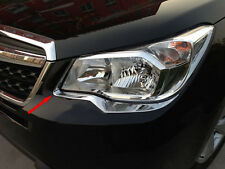 Chrome Front Head Light Lamp Surrounding Garnish for Subaru Forester S4 13-16