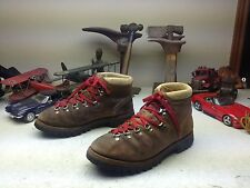 DISTRESSED MADE IN USA VINTAGE BROWN LEATHER MOUNTAINEER HIKER BOOTS 10.5 D