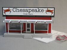 MTH RAIL KING CHESAPEAKE CRAB BARN ROAD STAND O GAUGE fish building 30-90503 NEW