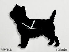 Cairn Terrier Dog Silhouette - Wall Clock