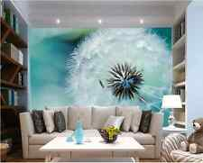 3D Wallpaper Bedroom Mural Modern Luxury Embossed dandelion Wall Background 086