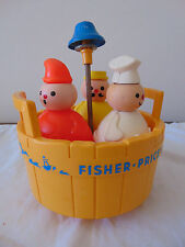 Vintage 1970's Fisher Price 3 Three Men in a Tub Bath Toy Complete FREE SHIPPING