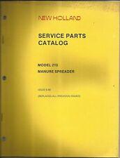 Original OE New Holland 213 Manure Spreader Parts Catalog 06-1988 OEM # 5021315