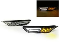 09-15 Nissan GTR GT-R R35 Amber/White LED Clear Front Bumper Side Marker Lights
