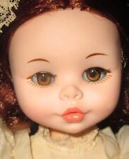 """Vintage Furga 17"""" Doll Southern Bell Original Clothes Red Rooted Hair Italy"""