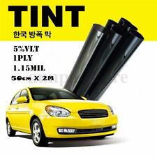 Cool ! Black Glass Window Tint Shade Film VLT 5% Auto Car House Roll 50cm*2M
