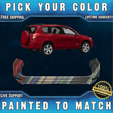 NEW Painted To Match - Rear Bumper Cover For 2009-2012 Toyota RAV4 w/out Flares