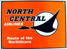 North Central Airlines Airplane Flight Flying Vintage Aviation Metal Sign