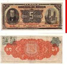 Messico Mexico 5 pesos 03-01- 1914   BB  Good   pick S381 2 marche  lotto 1020