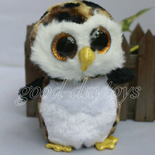 """IN HAND NEW TY BEANIES BOOS STUFFED ~owliver The Owl~6""""stuffed doll No heart tag"""