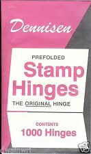 Dennisen Stamp Hinges - 1000 Folded, Peelable Stamp Hinges - $3.99