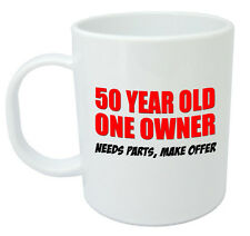 50 One Owner Mug - 50th Birthday Gifts / Presents for men, women, gift ideas