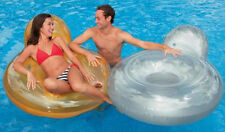 Pillow Back Lounge Float Tube Swim pool beach ring fun raft swimming float  seat