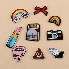 9pcs Embroidery Rainbow Bow Sew On / Iron On Patch Badge Bag Hat Jeans Applique