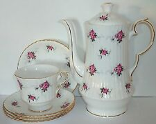 Vtg Hammersley BONE CHINA SET Princess House CHOCOLATE/TEA POT & 4 CUPS/SAUCERS