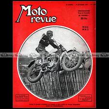 MOTO REVUE N°1106 NSU 250 MAX TRIUMPH AZIANI GRAND PRIX NATIONS MONZA SALON 1952