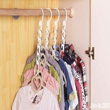 8pcs 3D Space Saving Space Hanger Clothes Hook Plastic Magical Storage
