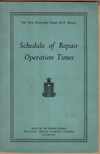 Standard Eight HP Original Schedule of Repair Times n/d c. 1953  unillustrated