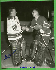 GUMP WORSLEY, Hand Signed 8X10 Photo with Johnny Bower, NEW YORK RANGERS