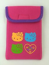 Hello Kitty Pouch Phone Cosmetic Makeup Case Pink Polyester Sanrio Japan New