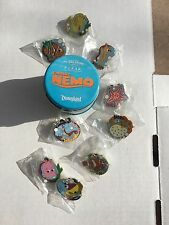 Disney Finding Nemo Mystery Tin 9 Pin Complete Set LE 150 - LE 1125