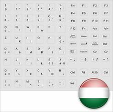 KEYBOARD STICK TASTATURAUFKLEBER UNGARISCH HUNGARY GREY