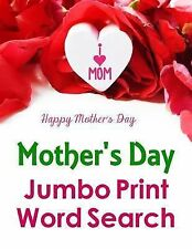 Jumbo Print Puzzle Bks.: Mother's Day Jumbo Print Word Search by Puzzlefast...