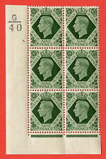 SG. 473. Q25. a. 9d Olive-Green. A superb UNMOUNTED MINT. Control G40 cylinder 3