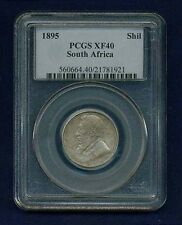 SOUTH AFRICA  REPUBLIC  1895  1 SHILLING SILVER COIN, CERTIFIED PCGS XF40