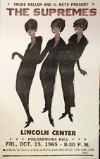 "The Supremes Concert Poster 1965 Lincoln Center - Diana Ross - Motown - 14""x22"""