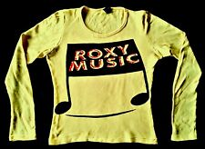 RARE VINTAGE 70's ROXY MUSIC BRYAN FERRY PUNK ROCK TOUR CONCERT PROMO T-SHIRT