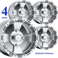 FOUR 14x8 14x7 4/110 Aluminum ATV RIMs WHEELs for some Kubota RTV 400 / 500