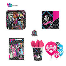 MONSTER HIGH PARTY SUPPLIES 46 PC PACK, 8 PLATES, 16 NAPKINS, 8 LOOT BAGS, 8CUPS