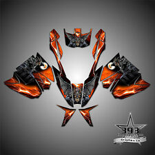 Arctic Cat ProClimb ProCross Graphics Kit Wrap Decal  2012-2017 Guardian Orange