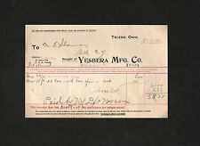 Yesbera Manufacturing Co. 1904 receipt Toledo Ohio fixtures & furniture company