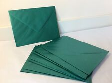 25 Green Metallic Effect Envelopes - 21 x 16 cm - Card Making Uses...