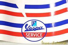 """Banner Kotflügel & Seitenhaube """"Vespa Service"""" - V50 PK PX GL Servizio Aufkleber"""