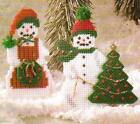 CHEERY SNOW COUPLE ORNAMENTS SNOWMEN PLASTIC CANVAS PATTERN INSTRUCTIONS ONLY