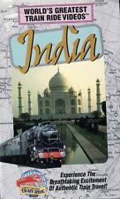 World's Greatest TRAIN Ride Videos INDIA VHS Clam Shell Case Edition