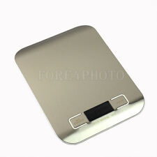 Mini 5KG Electronic Digital LCD Weight Kitchen Postal Scale for Fruit Food White