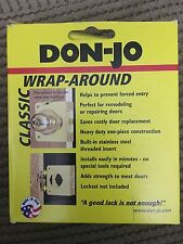 """Don-Jo Classic WRAP A ROUND Prevent Forced Entry. 1.75"""" Door 2.125"""" Hole NEW"""