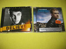 Justin Timberlake Justified & Justin Bieber Believe 2 CD Albums R&B Swing Pop