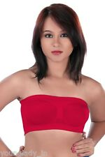 Red Seamless Strapless Bandeau Top Tube Bra Lingerie.Size-Free