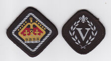 1990's HONG KONG / HK SCOUTS - VENTURE QUEEN'S SCOUT Top Rank Award Badge SET