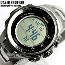 CASIO PROTREK MENS WATCH TRIPLE SENSOR PRW-3000T-7 PRG-3000T-7DR TITANIUM BAND