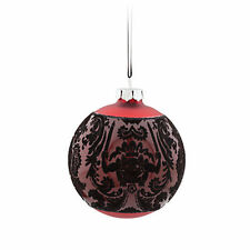 NIB Disney Store Haunted Mansion Wallpaper Red Glass Ball Christmas Ornament