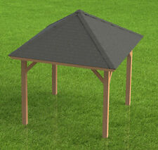 12' x 12 Square Gazebo with open sides Building Plans  - Perfect for Hot Tubs