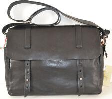 In Pell Italian Leather Men's  Black Bag Messenger Sac Bolsa  MSRP$285.00