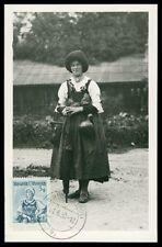 AUSTRIA MK 1950 TRACHTEN TIROL COSTUMES MAXIMUMKARTE MAXIMUM CARD MC CM h0747