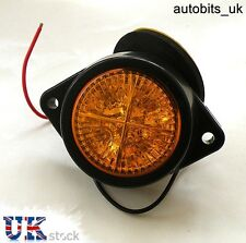 1 x 24v AMBER ORANGE LED SIDE MARKER LIGHT INDICATOR LAMP TRAILER DAF MAN SCANIA